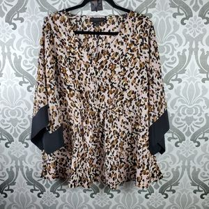 Lane Bryant abstract leopard blouse
